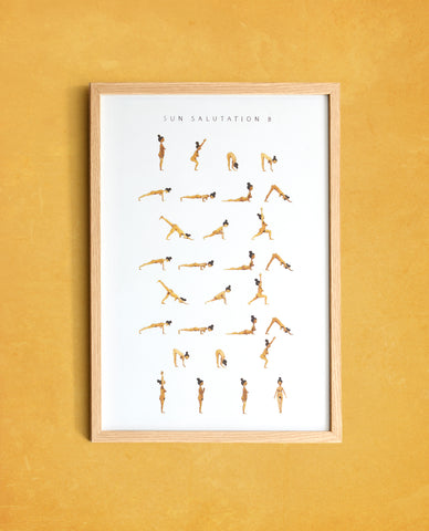 Sun Salutation B - Woman - Golden