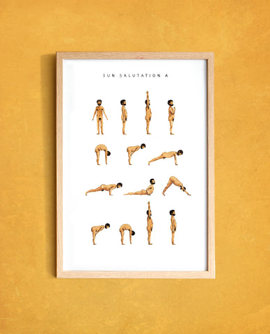 Sun Salutation A - Man - Golden