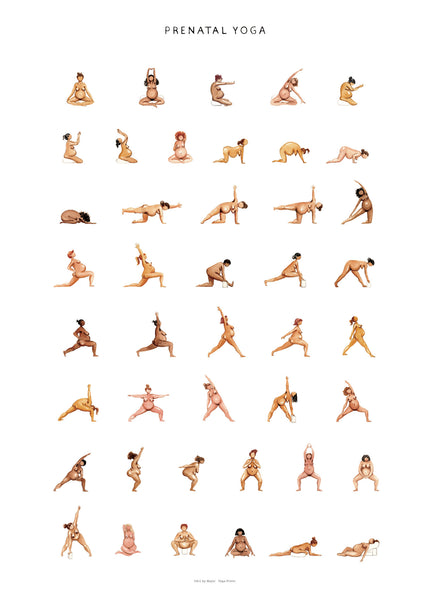 Prenatal yoga poster by yoga prints