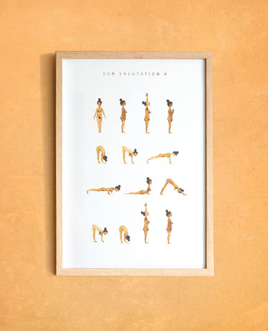 Sun Salutation A - Woman - Golden