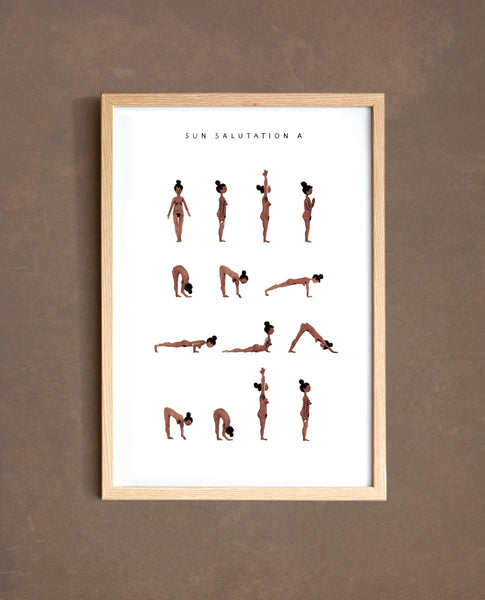 Sun Salutation A - Woman - Brown