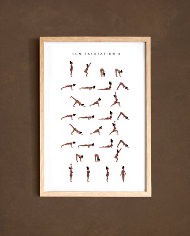 Sun Salutation B - Woman - Brown