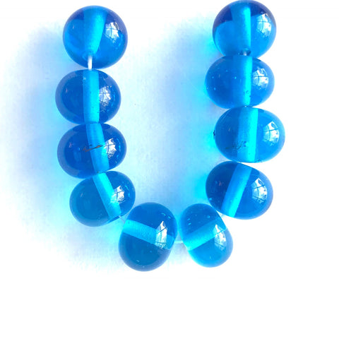 Seaside: Light Aqua Single Color Beads (Set of 10)