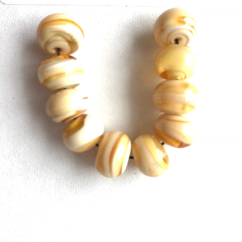 Sand: Swirled Beads (Set of 10)
