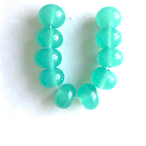 Seaside: Caribbean Green Single Color Beads (Set of 10)