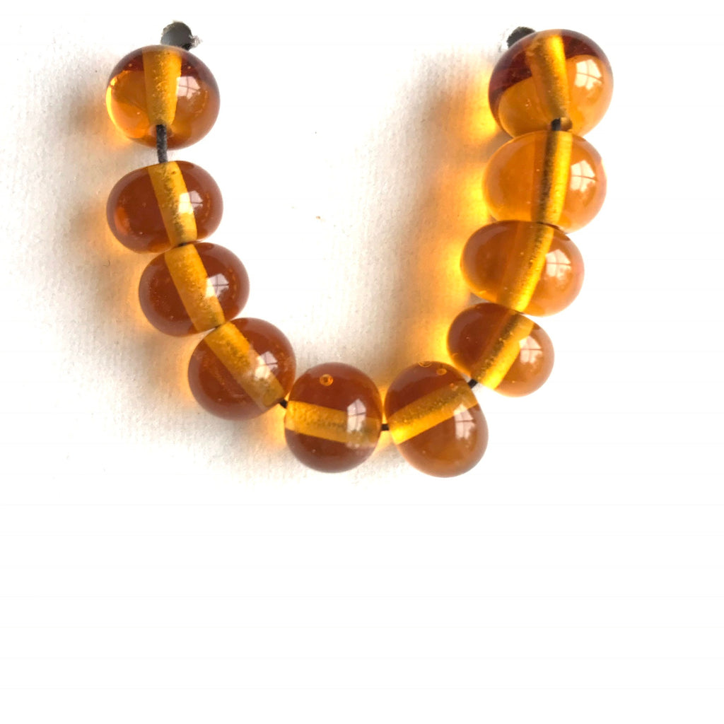 Sand: Light Topaz Single Color Beads (Set of 10)