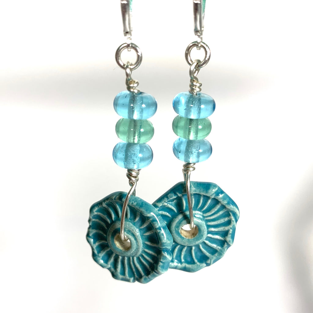 Summer Escape - Turquoise Earrings (Reserved for Barbara)