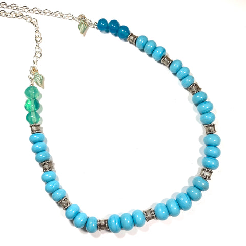 Summer Escape - Turquoise Necklace (Reserved for Barbara)