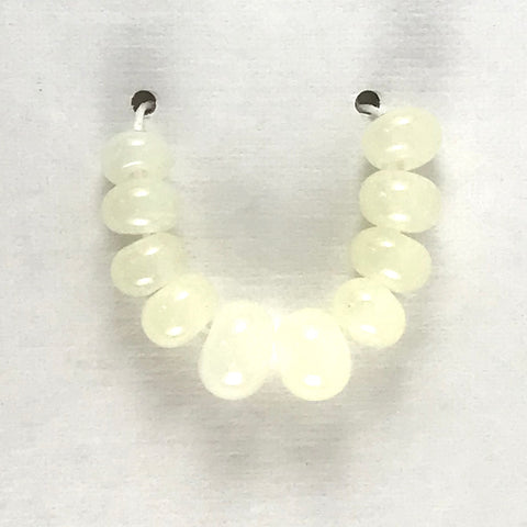 Lemon: Lemon Pith Single Color Beads