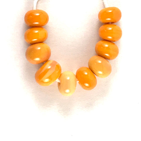 Orange: Orange Peel Single Color Beads