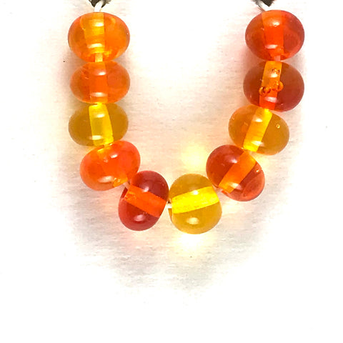 Orange: Orange Juice Single Color Beads