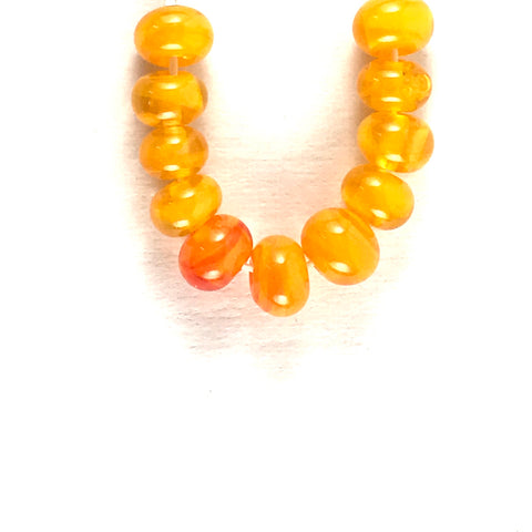 Orange: Swirled Beads