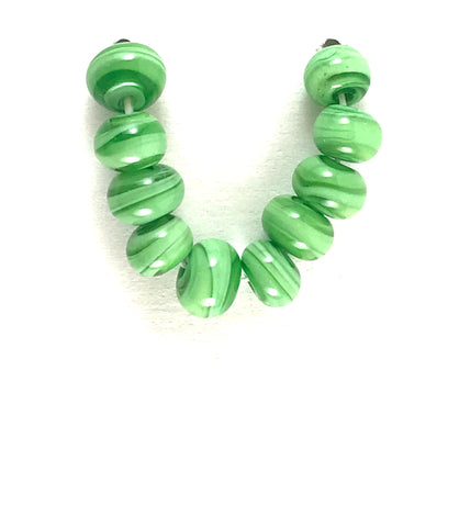 Lime: Swirled Beads