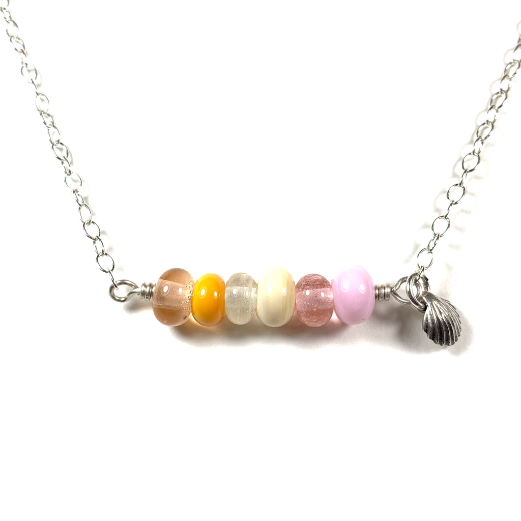 Seashell Collection - Lauren Necklace - Multi-Color Bar (Limited Edition)