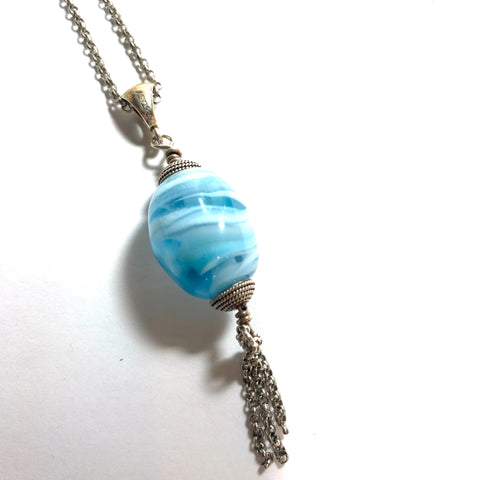 Summer Escape - Blue Lantern Necklace