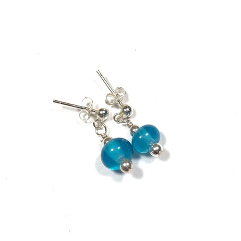 Summer Escape - Tiny Deep Teal earrings