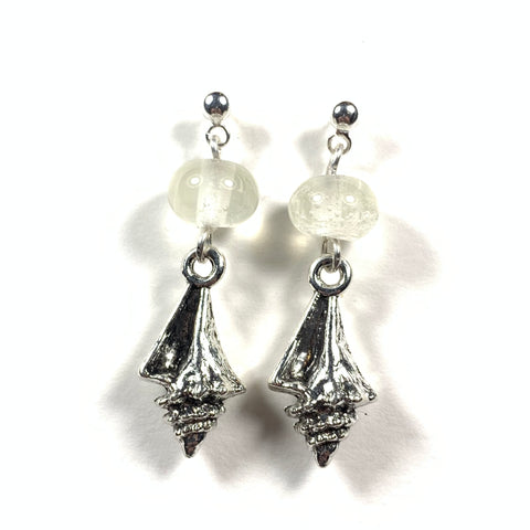 "Seashell Collection - Jennifer Earrings - 1.5"" long (Limited Edition)"