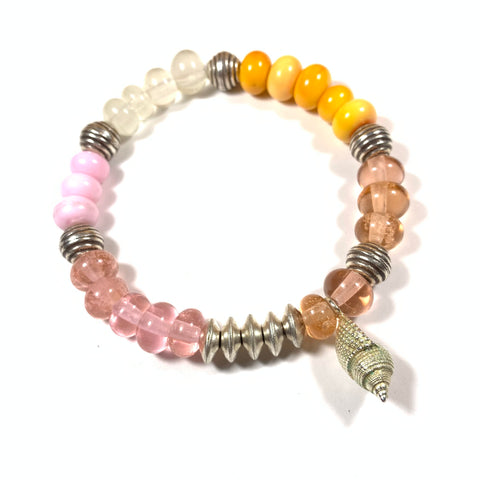 Seashell Collection - Trixie Bracelet - Stretchy Stacking Bracelet Sized to Fit
