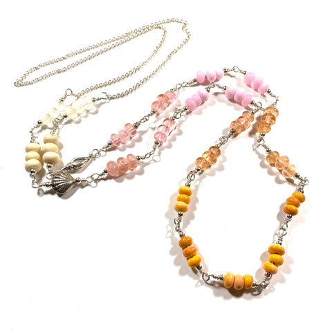 "Seashell Collection - Trixie Necklace - Bohemian Rope Length (50"")"
