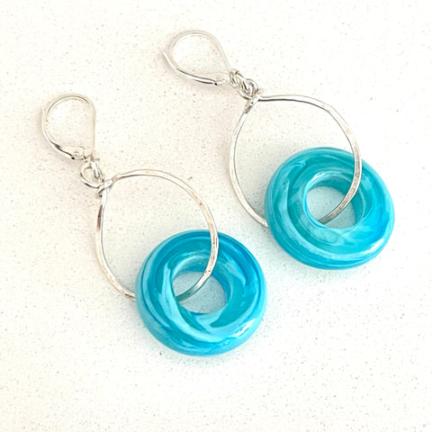 Yvonne Earrings - minimalist loop-in-loop earrings 2""