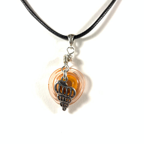 "Seashell Collection - Molly Necklace - Pendant 1.75"" long (Limited Edition)"