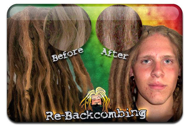 rebackcombing dreadlocks