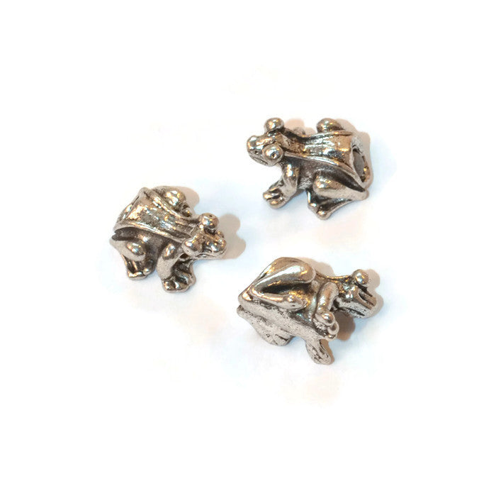 Pewter Frog Dread Bead