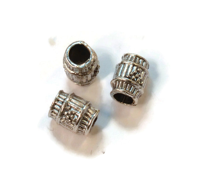 Pewter Grape Barrel Dread Bead
