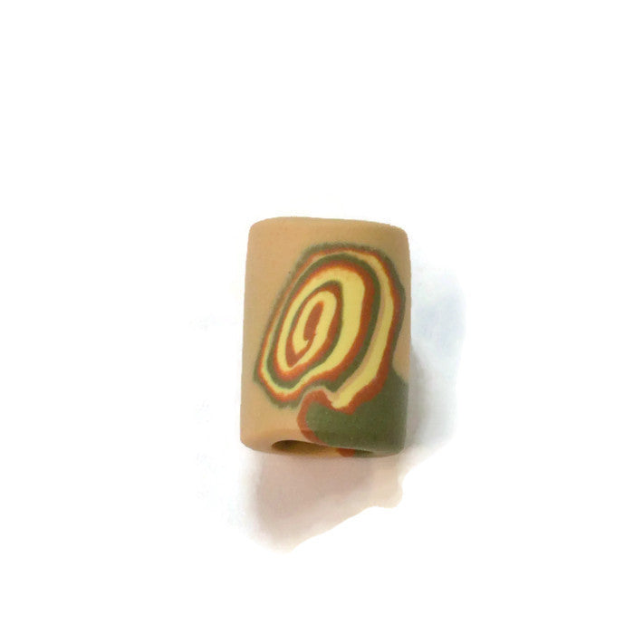 Earthtone Greens Clay Dread Bead