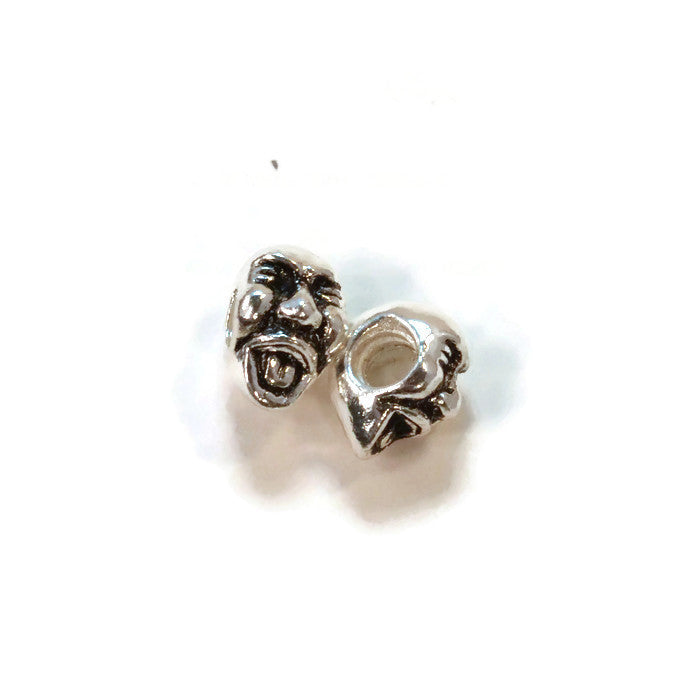 Laughing Guy Pewter Dread Bead