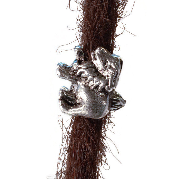 Lion Pewter Dread Bead