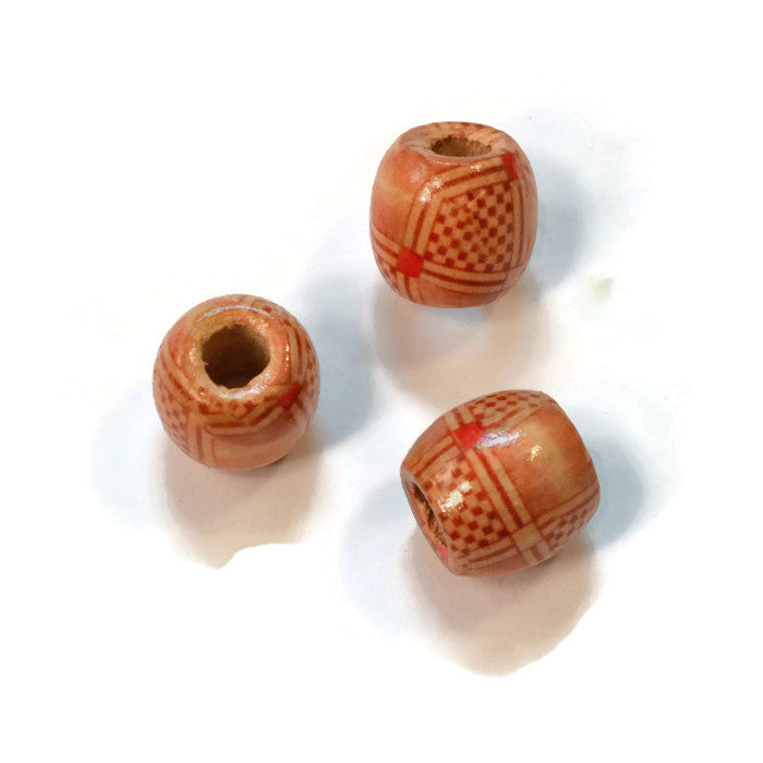 Neutral Wooden Dreadlocks Bead