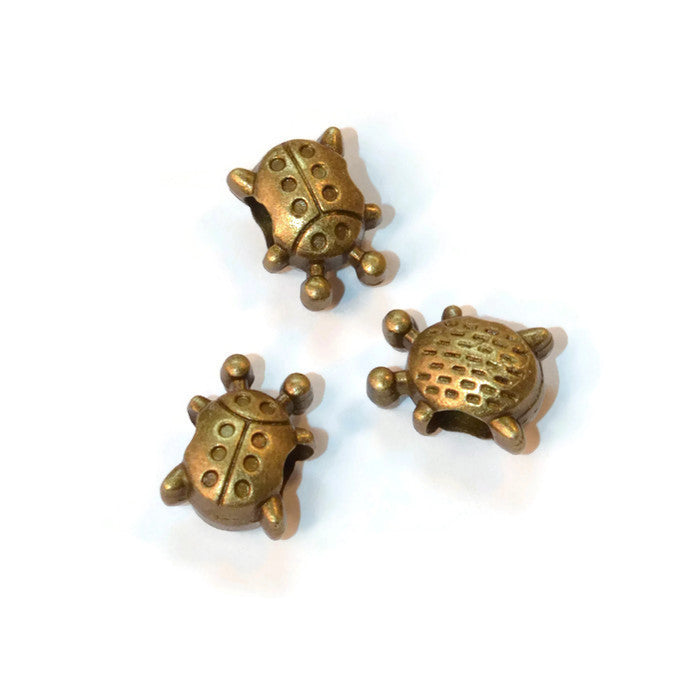 Bronze Small Ladybug Dreadlocks Bead