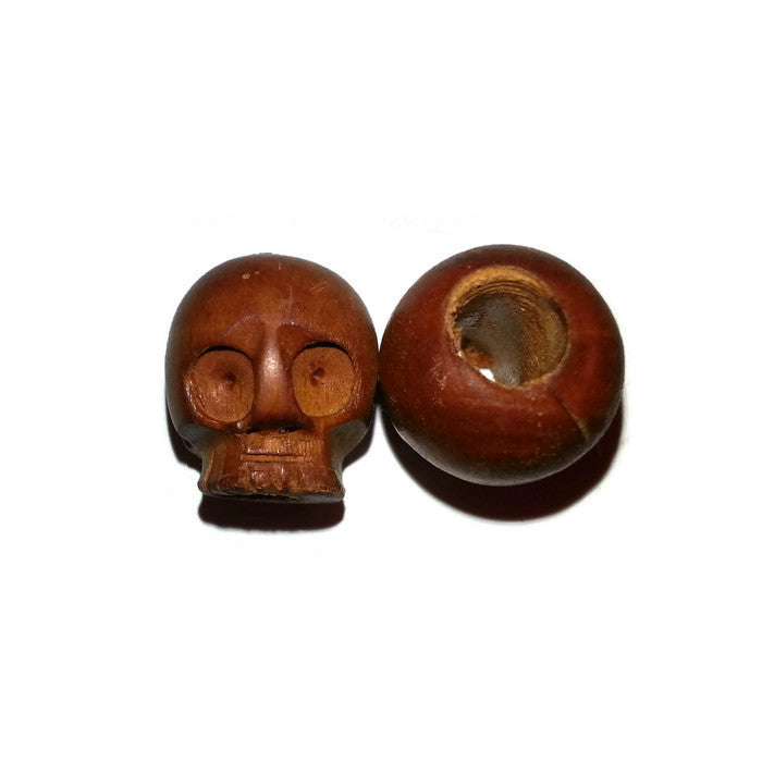 Skull Wooden Dreadlocks Bead