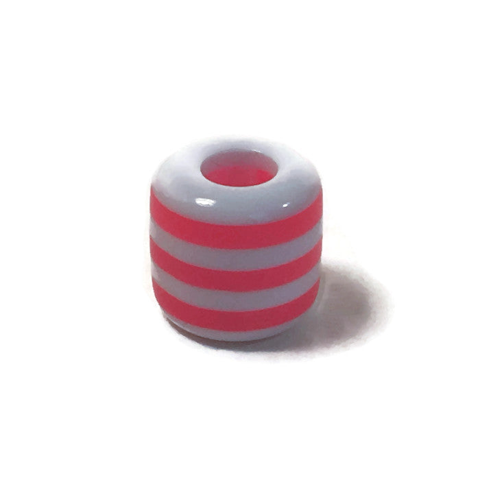Pink & White Dread Bead