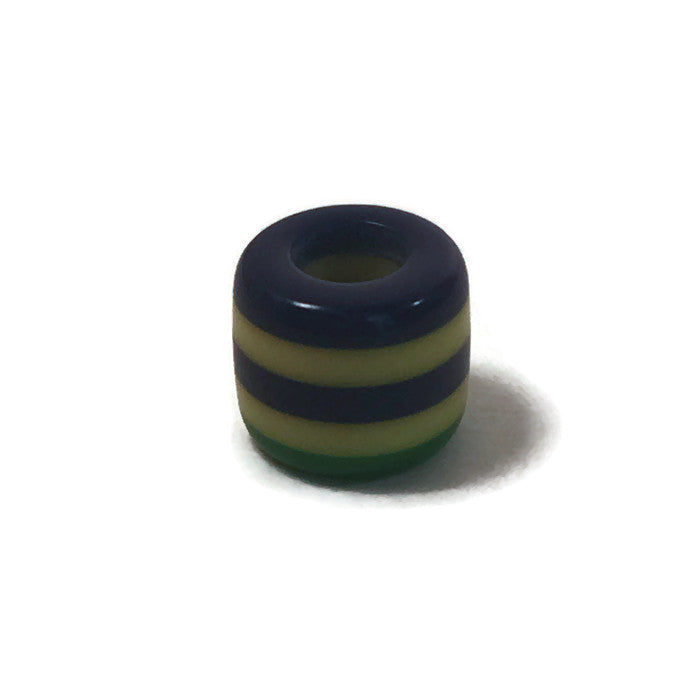 Green, Yellow, & Blue Dread Bead