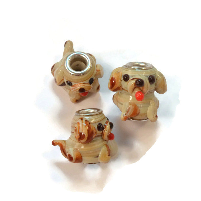 Glass Dog Dread Bead