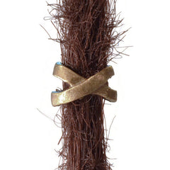 Bronze Ribbon Dreadlocks Bead