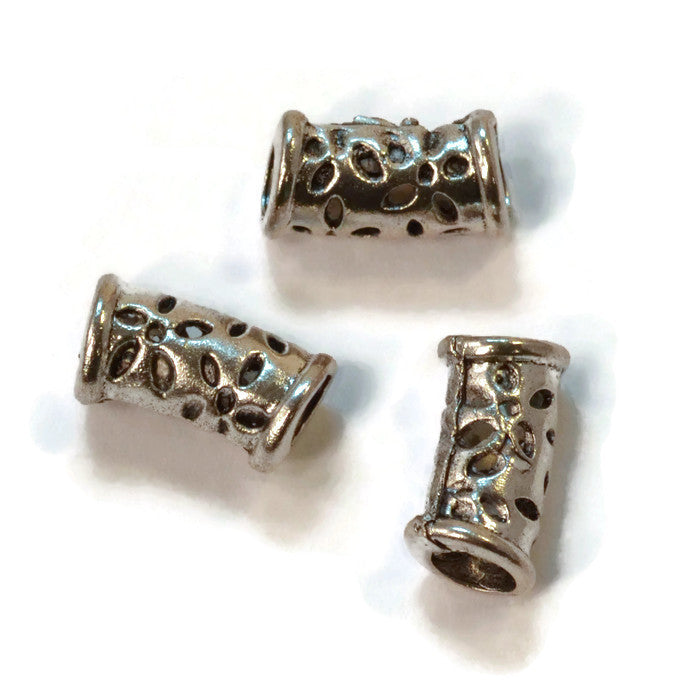 Pewter Dreadlocks Bead Style 9
