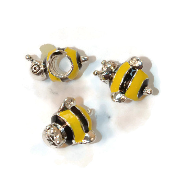 Pewter Bee Dread Bead