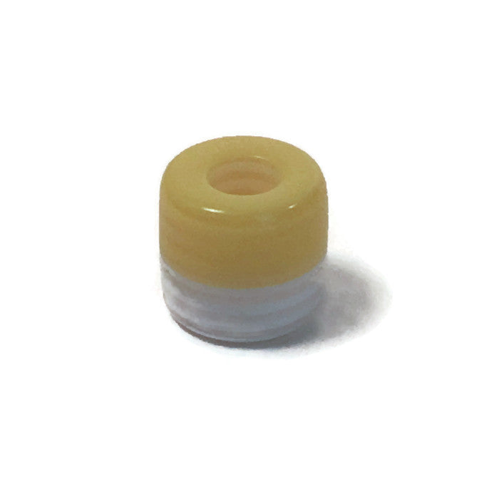 Yellow & White Dread Bead