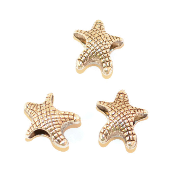 Pewter Starfish Dread Bead