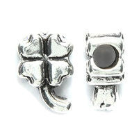 4 Leaf Clover Pewter Dreadlocks Bead