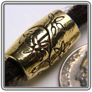 Pewter Dreadlocks Bead Style 4 Gold
