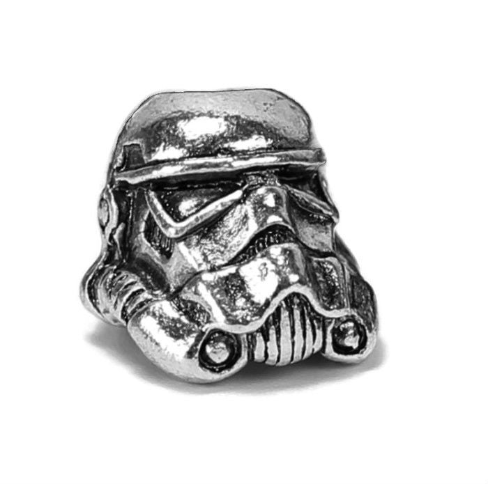 Silver Storm Trooper Dread Bead