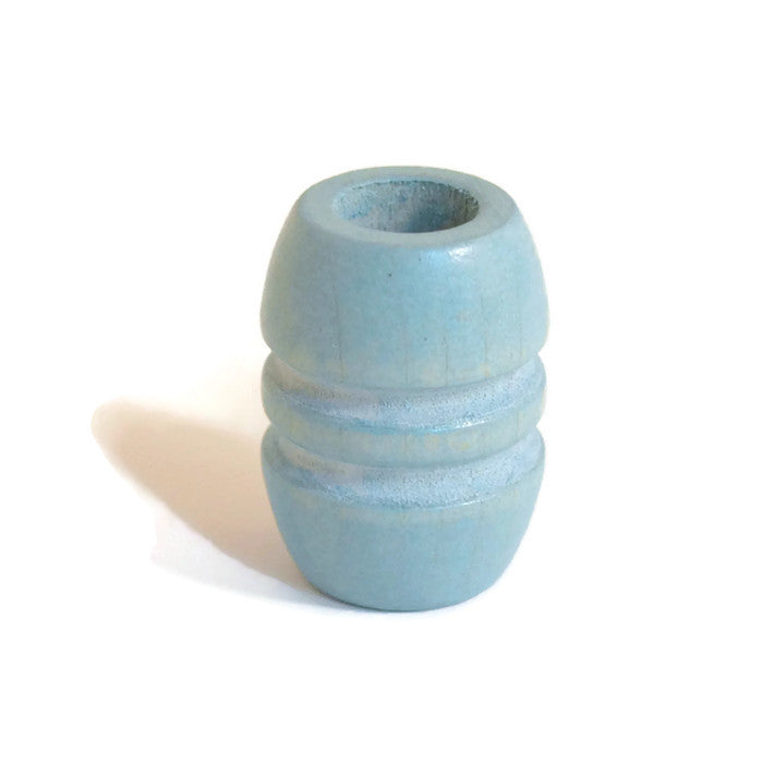 Large Sky Blue Wooden Dreadlocks Bead