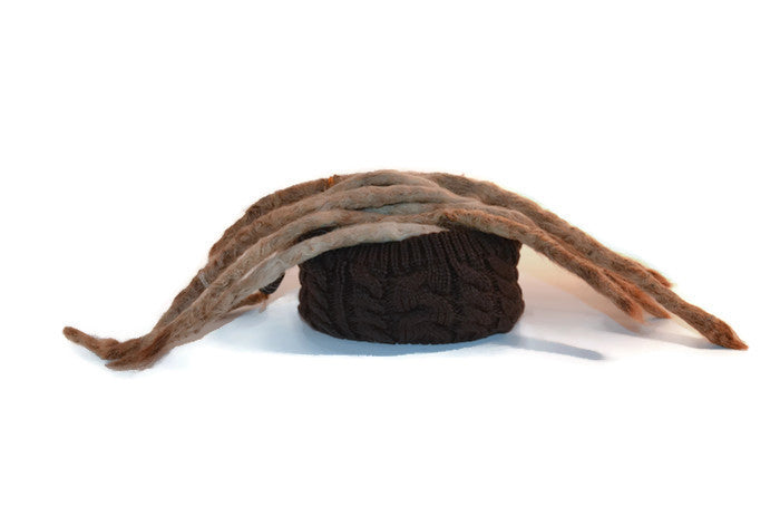 Brown Crocheted Dread Head Band
