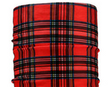 Red Plaid Dread Head Band