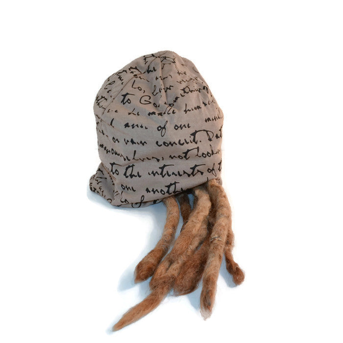 Tan Slouch Dread Hat