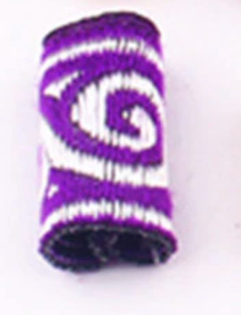Purple Swirl Dread Cuff